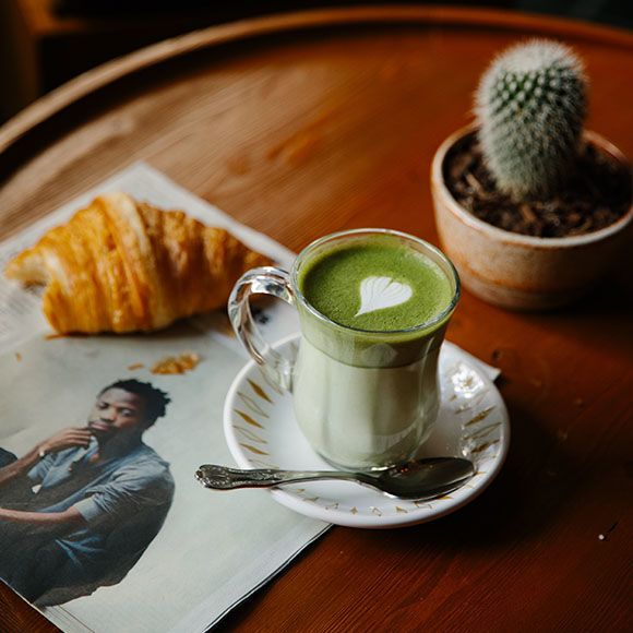 Macha chai latte