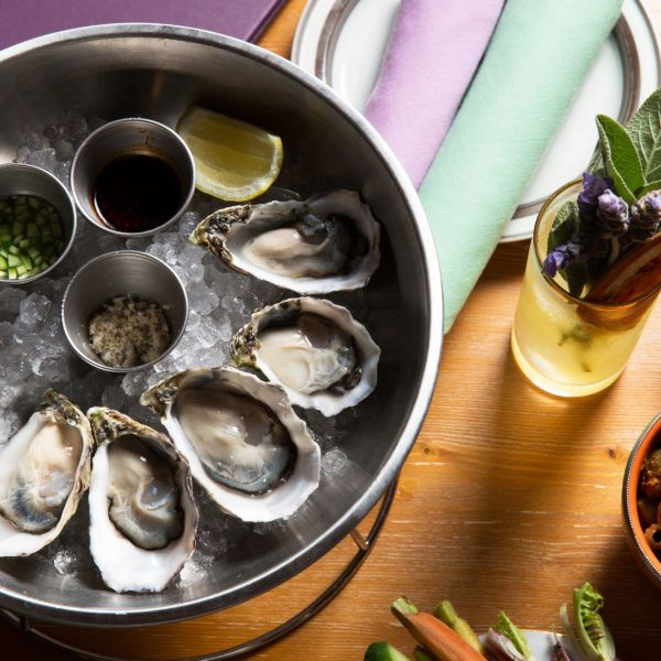 Oysters on a serving plate
