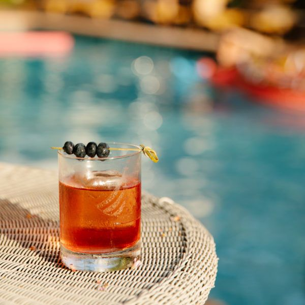 Cocktail by the pool at Freehand Hotel Miami