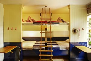 Quad room with bunk beds at Freehand Hotel Miami