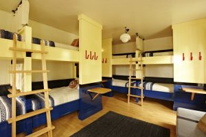 Super 8 shared room with bunk beds at Freehand Hotel Miami