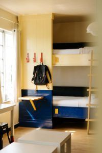Bunk beds and closet at Freehand Hotel Miami