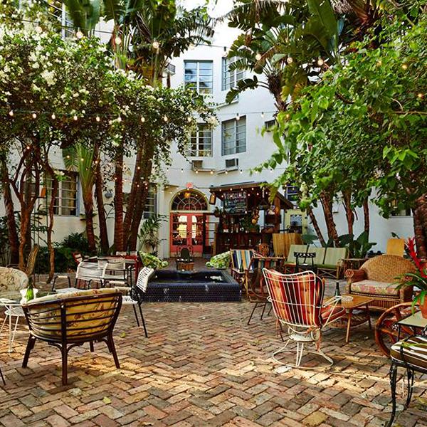 Backyard at Freehand Hotel Miami