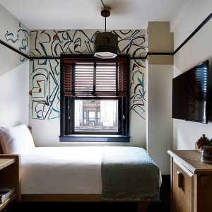 Queen room view in Freehand Hotel New York