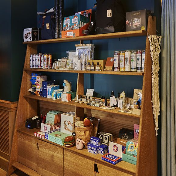The Shoppe products on display