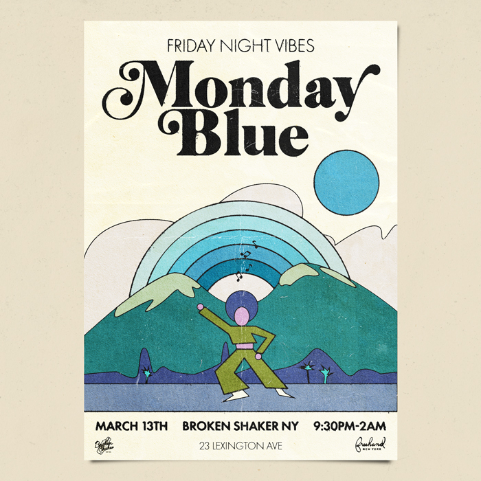 Friday night vibes with monday blue