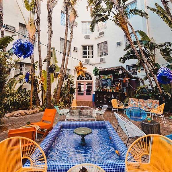 Courtyard of Freehand Miami